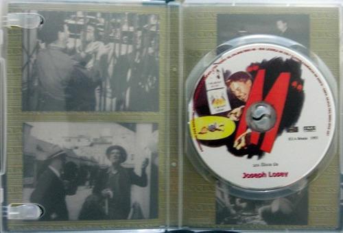 dvd  m de joseph losey - impecável - raro