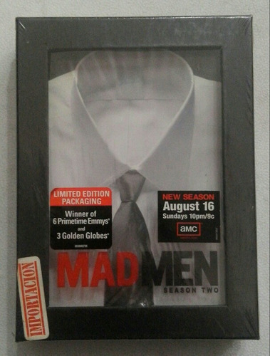 dvd mad men season two limited edition packaging