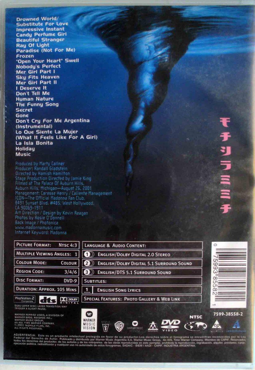 Dvd - Madonna - Drowned World Tour 2001 - $ 300,00