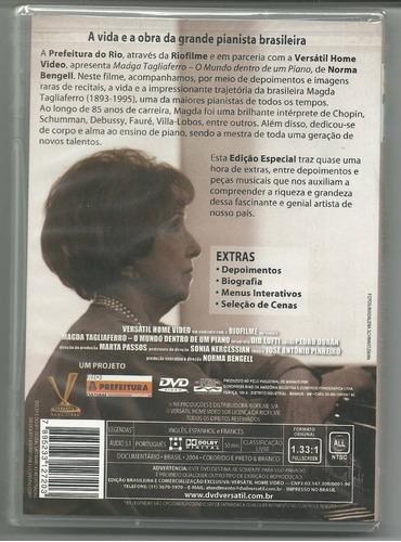 dvd magda tagliaferro o mundo dentro de um piano
