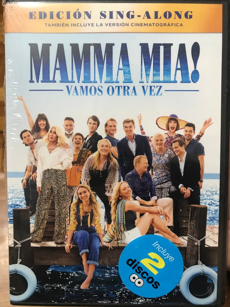 Dvd Mamma Mia 2 Vamos Otra Vez Here We Go Again 68990 En