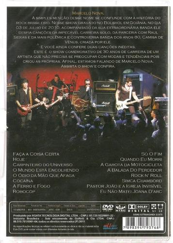 dvd - marcelo nova - hoje - no bolshoi - lacrado