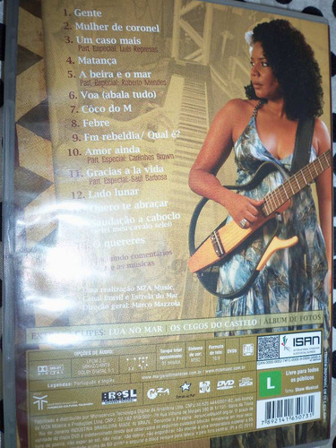 dvd margareth menezes acústico part: brown, saul, represas