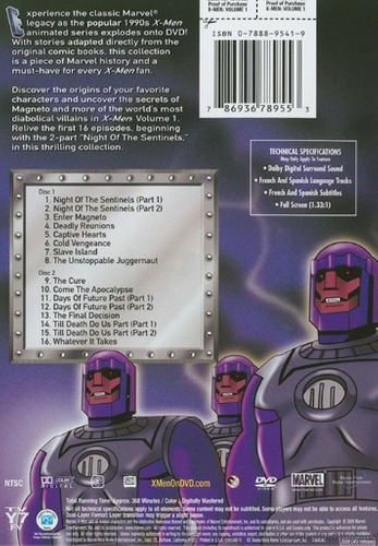 dvd : marvel x-men: volume 1 (dvd)