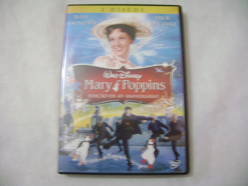 dvd  mary poppins ediçao de 45 aniverssario disney duplo