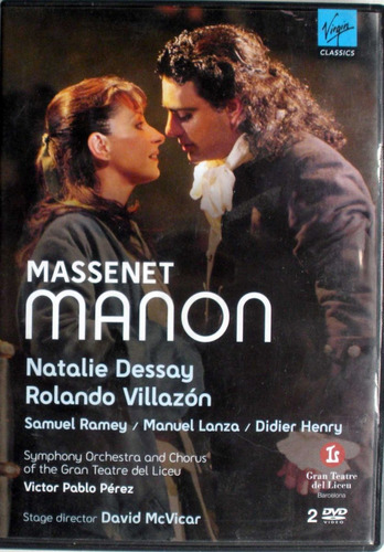 dvd - massenet manon- 2 dvdpromo - natalie dessay - booklet