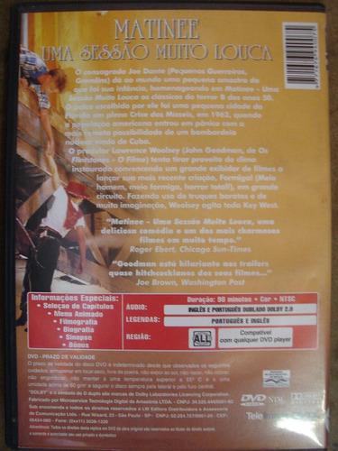 dvd matinee uma sessão muito louca