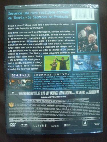 dvd matrix - os segredos da produção - snapcase - raro