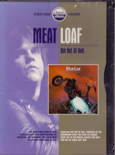dvd meat loaf - bat out of hell - importado novo***