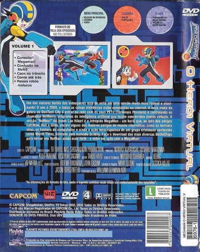 dvd megaman - vol.1 - o herói virtual