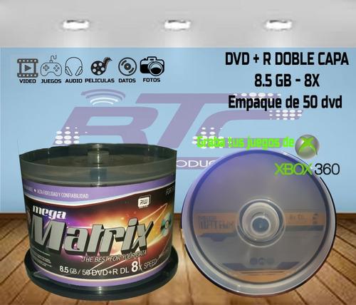 dvd megamatrix doble capa ( 100 dvd dl)