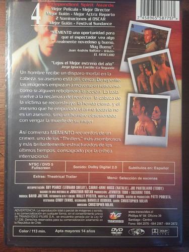 dvd memento / de christopher nolan