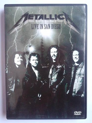 dvd metallica live in san diego original envio grátis
