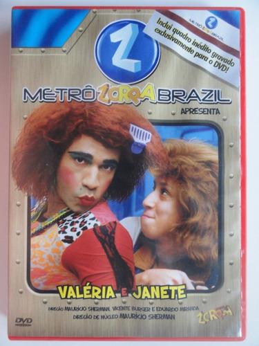 dvd  metrô zorra brazil 1 - valéria e janete - humor comédia
