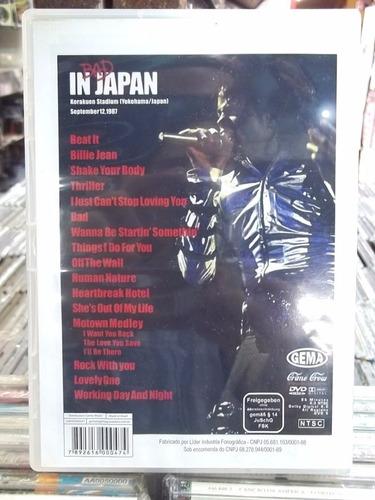 dvd michael jackson bad in japan original