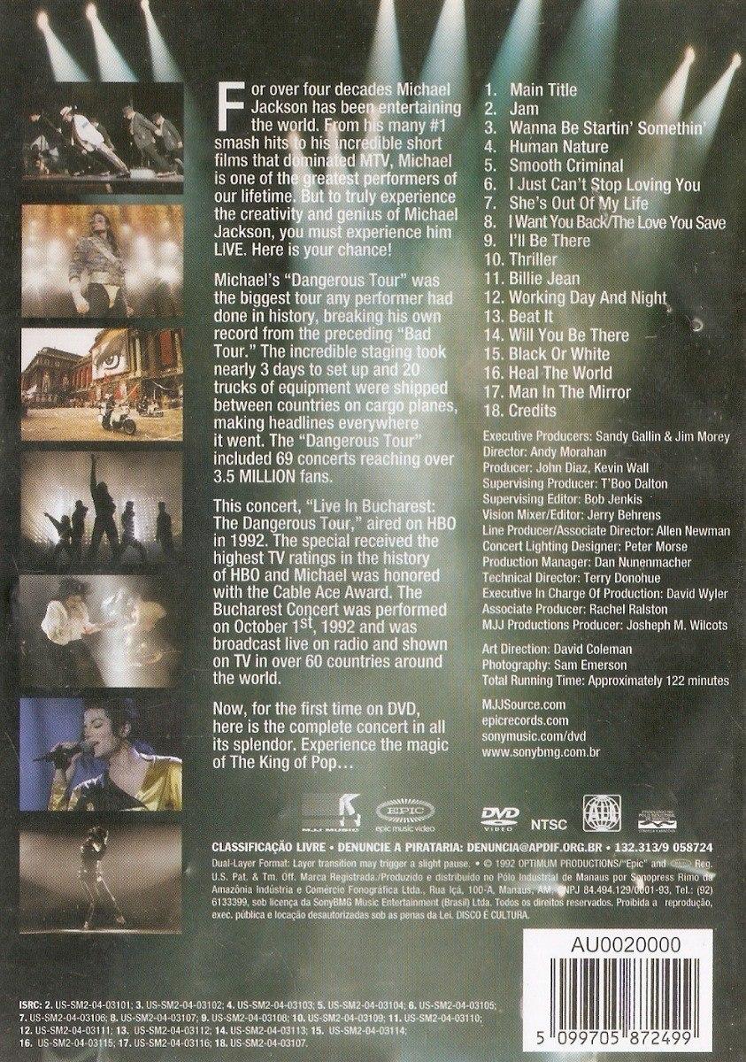 Dvd Michael Jackson - Live In Bucharest: The Dangerous Tour