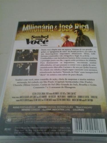 dvd milionario e zé rico sonhei com você