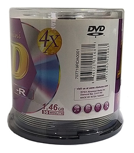 dvd mini ridata 50pack
