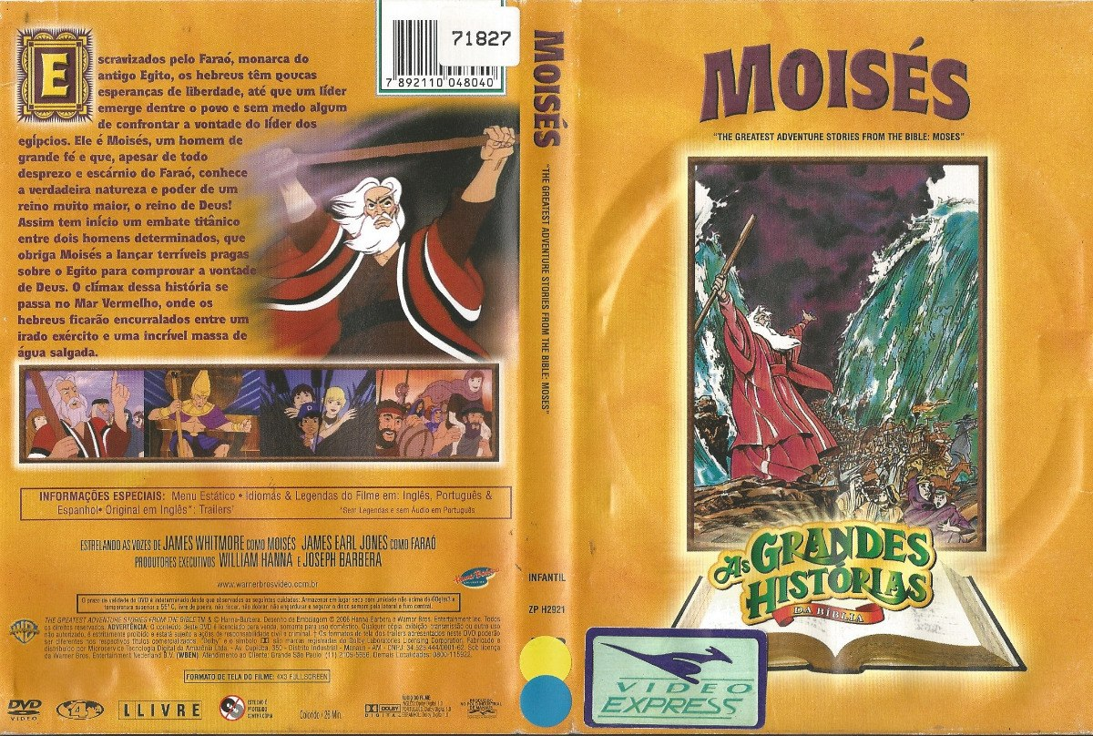 Dvd Moises As Grandes Historias Da Biblia Desenho Dublado R