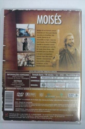 dvd moisés aterra prometida coleção bíblia sagrada
