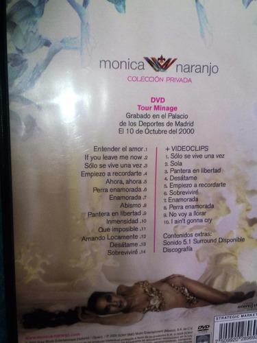 dvd monica naranjo en vivo y videos pop tour minage