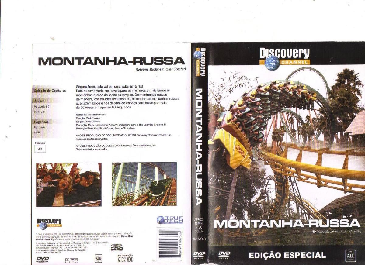 Dvd Montanha Russa Discovery Channel Original R 1742 Em 12 Mercado Livre