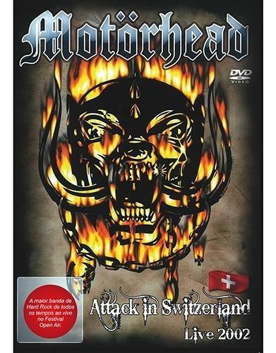 dvd motorhead - attackin switzerland live 2002 -lacrado !!!