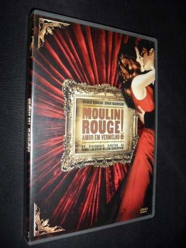 dvd - moulin rouge - amor em vermelho
