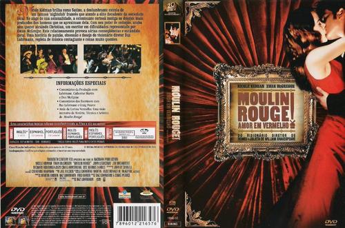 dvd moulin rouge  amor em vermelho romance lacrado