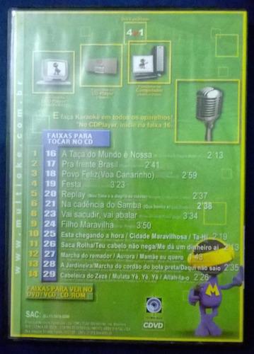 dvd multiokê - com o brasil a caminho da copa - original