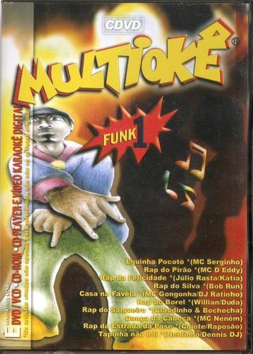 dvd multiokê - funk 1 - novo***