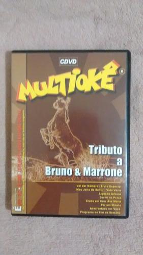 dvd - multiokê - tributo a bruno e marrone