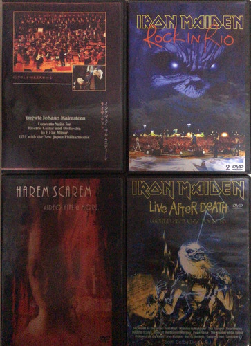 dvd musica progresiva-metal-trash