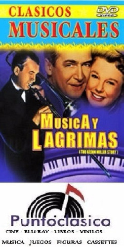 dvd - música y lágrimas - james stewart - jazz - blues