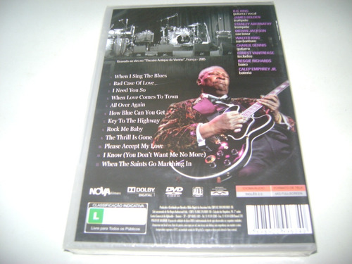 dvd musical b.b.. king live in france ! original !
