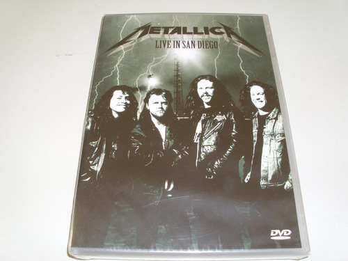dvd musical metallica live in san diego  original !