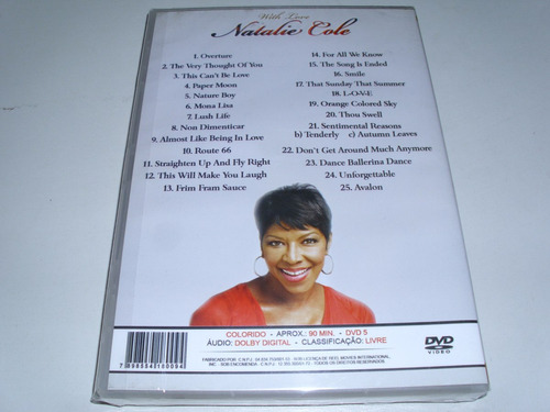 dvd musical natalie cole with love