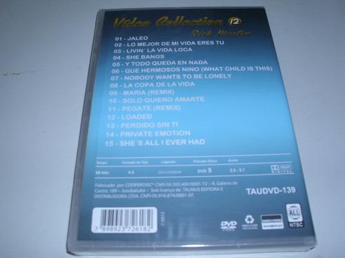 dvd musical rick martin vídeo collection