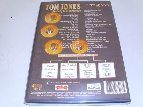 dvd musical tom jones duets by invitation only ! original !