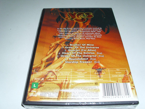dvd musical yes in the big dream ! original !