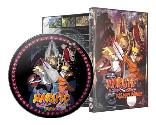 dvd naruto classico e shippuuden filmes + ovas