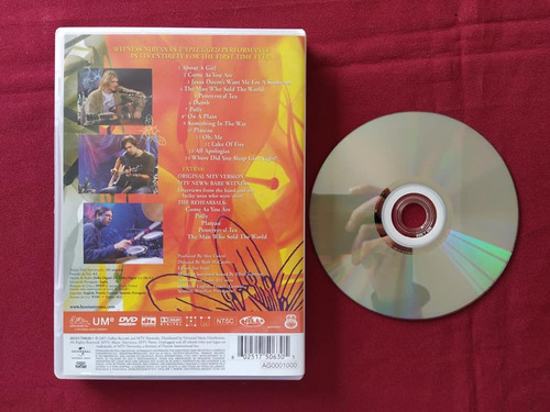 dvd nirvana unplugged live in new york kurt kris e dave 1993