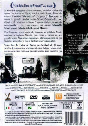 dvd - noites brancas - edicão versátil ( le notti bianche )