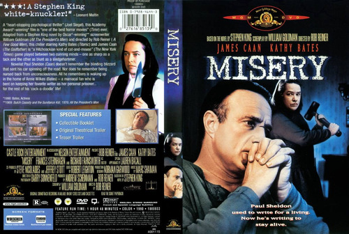 dvd novela stephen king james caan miseria misery clasica