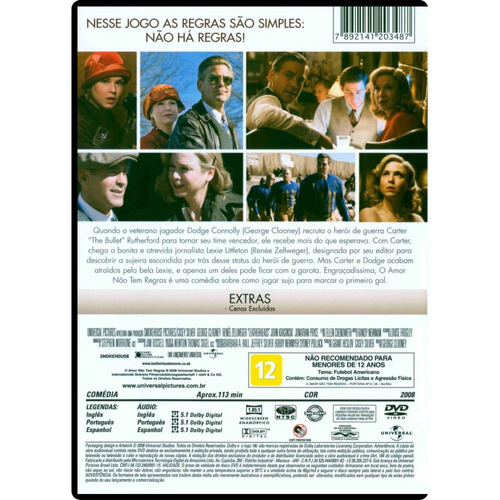 dvd o amor não tem regras