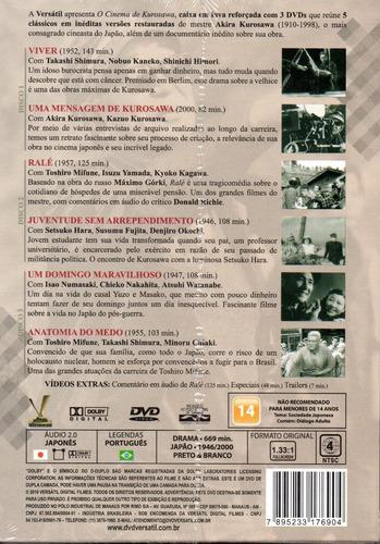dvd o cinema de kurosawa - versatil - bonellihq l19