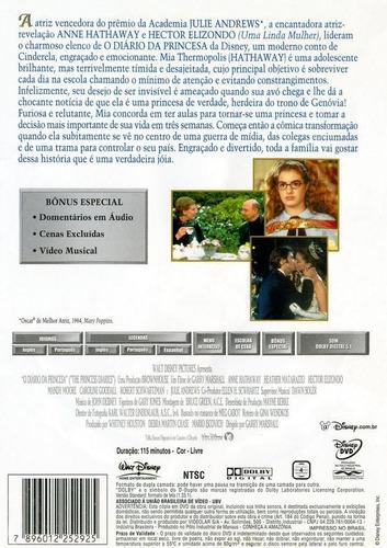 dvd - o diário da princesa