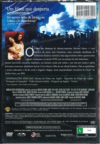 dvd o ùltimo dos moicanos