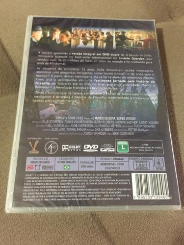 dvd o mundo de sofia- duplo (lacrado)
