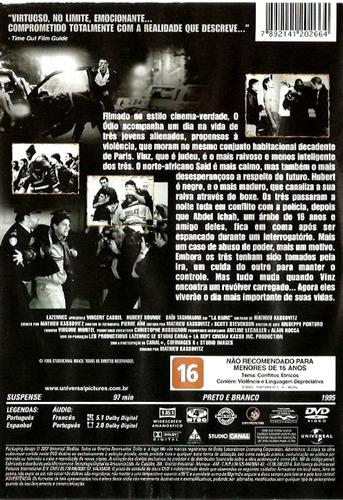 dvd - o ódio - ( la haine ) de mathieu kassovitz
